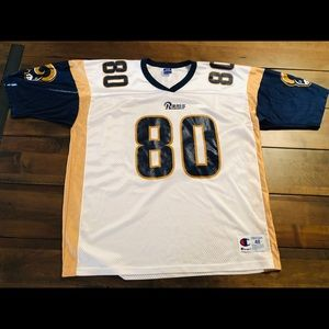 Vintage Champion Isaac Bruce rams jersey